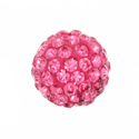 Round bead strass shambala rose 10mm hueco 1,6mm