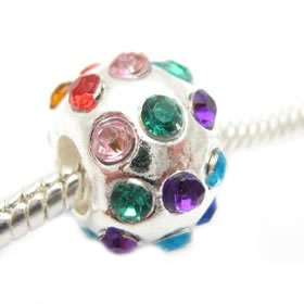 SPECIAL bead Silver-Multicolour 10*13mm