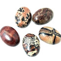 Cabochon natural stone oval
