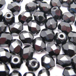 round faceted jet 4mm