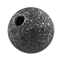 Frosted Round Metal bead
