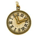 Zamak antic clock pendant