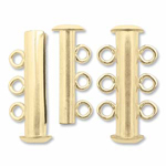 Magnetic slide lock Clasp 3 rings