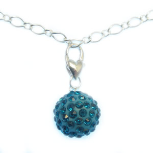 bright pendant with lobster clasp