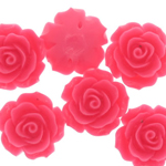 Synthetic bead-cabochon rose