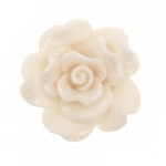 Synthetic cabochon-Bead rose