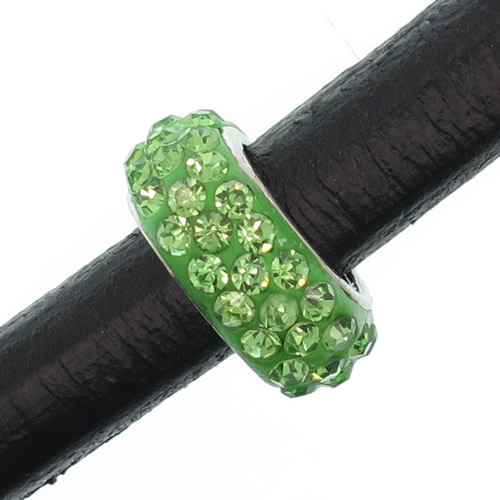 Regaliz strass bead