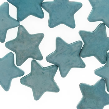Turquoise bead star