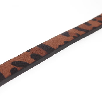 Flat leopard Leather cord