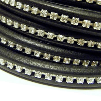 Regaliz licorice leather with strass