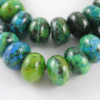 Natural gemestone chrisocolla bead