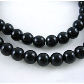 Natural gemestone blackstone bead