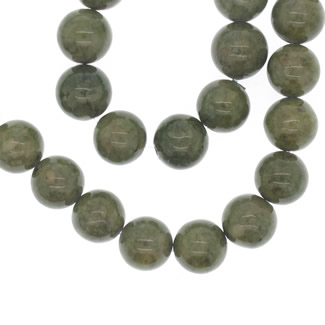 Natural gemestone fossil bead