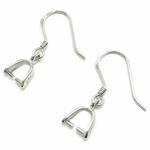 Earring with Small Coupling silver 925 27X8mm