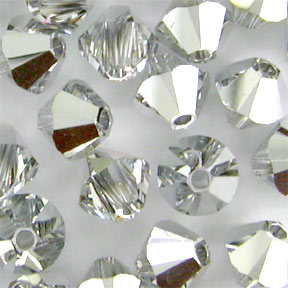Tupi Swarovski 5328 Crystal Comet Argent Light 4mm